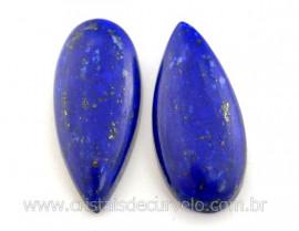 par gema Lapis Lazuli pra brinco 56ct 34mm Reff GL9604