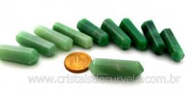 10 Bi Terminado QUARTZO VERDE  Pedra Extra Lapidado Bi Ponta Tamanho 2.5  Cm