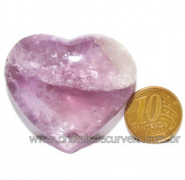 Coraçao Ametista Pedra Natural Ideal P/Presentear Cod 116119