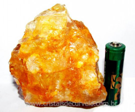 Hematóide Amarelo Pedra Bruto Quartzo Natural Cod 103211