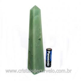 Obelisco Quartzo Verde Aventurina Pedra Natural Cod 122709
