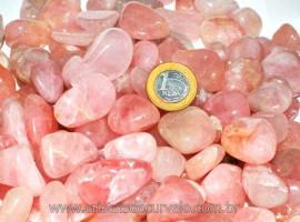 1 kg Quartzo Rosa Rolado Boa Qualidade Tamanho Médio/Grande  Reff 271767