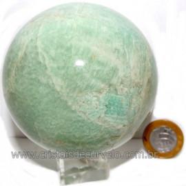 Esfera Amazonita Verde Pedra Natural de Garimpo Cod 113779