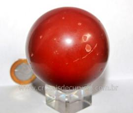 Esfera Jaspe Vermelho Pedra Natural Mineral de Rocha Lapidado Manual Cod 397.6