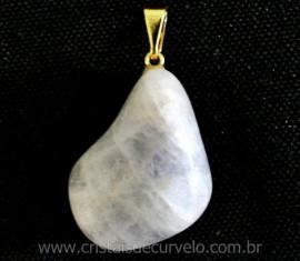 Pingente AMBLIGONITA Natural Pedrinha Rolado Mineral Pino Dourado