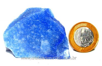 Quartzo Azul ou Aventurina Azul Pedra Bruto Natural Cod QA9597