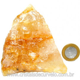 Hematoide Amarelo Pedra Bruto Quartzo Natural Cod 114649