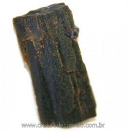 Canudo de Epidoto Pedra Bruto Natural Pra Coleção Cod 106564