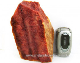 Cristal Vermelho ou Quartzo Vermelho Pedra natural de Garimpo Cod 1.028