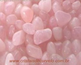 Quartzo Rosa Rolado Grande 1kg Pedra  Natural Leve Cor Rosa