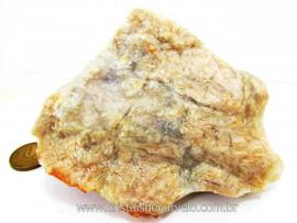 Calcedonia Geodo Pedra Natural Bruto de Garimpo Para Colecionador Cod 390.6