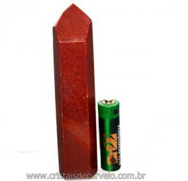 Ponta Quartzo Vermelho Pedra Natural de Garimpo Cod PQ9991