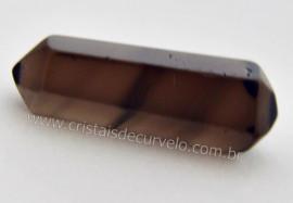 Bi Terminado OBSIDIANA NEGRA Pedra Extra Lapidado Tamanho Mini 2.5  Cm