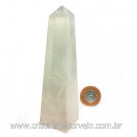 Obelisco Pedra Fluorita Multicolor Natural Garimpo Cod 121779