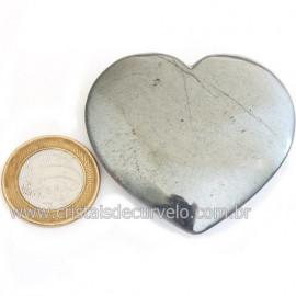 Coração Hematita Pedra Natural Lapidação Manual Cod 121740