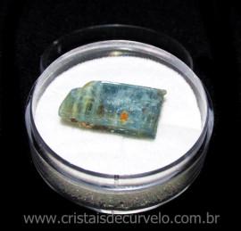 Cianita Azul Canudo No Estojo Natural de Garimpo Cod 115788