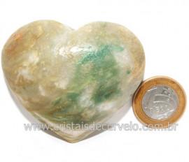 Coraçao Jade Verde Natural Origem Montes Claros MG Cod 121633