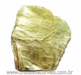 Chapa de Mica Amarela Bruta Natural de Garimpo Cod 115594