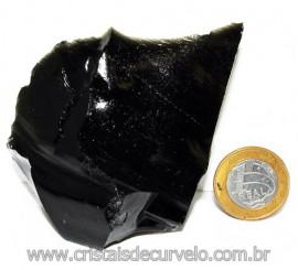 Obsidiana Negra Mineral Vulcanico Pedra Natural Cod 115863
