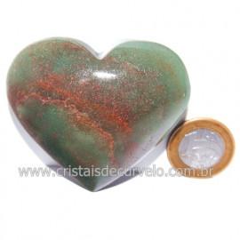 Coração Quartzo Verde Natural Comum Qualidade Cod 119822