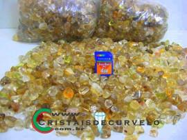 Citrino Natural Pequeno Rolado Pacote 1kg Pedra Rolado Citrino de MG não é Bombardeado