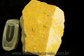 Micro Cristais e Mica Amarelo no Feldspato rara Formação de Coleção Cod 744.9