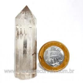 Voguel Cristal Com tok fume 01 Ponta Pedra Natural 12 Facetas Cod 123394