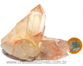 Drusa Cristal Tangerina Bruto Ideal Colecionador Cod 108945