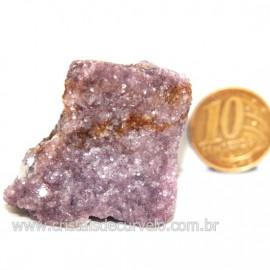 Lepidolita Mica Natural Mineral P/Colecionador Cod 124263