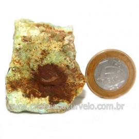 Crisoprasio Bruto Natural Pedra Familia da Calcedonia Cod 123177