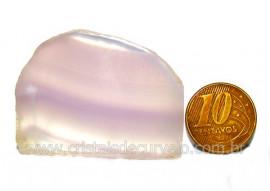 Chapa Fluorita Multicor Pedra Natural Colecionar Cod CF9351