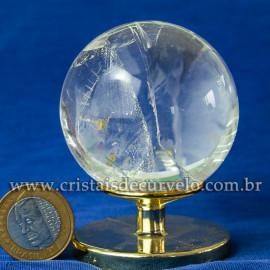 Bola de Cristal Pedra Extra Esfera Quartzo Transparente 112869