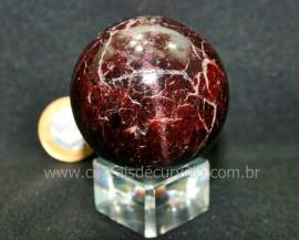 Esfera Granada Rodolita Bola Pedra Natural Garimpo Cod EG8388