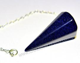 Pendulo Pedra Estrela P Radiestesia Lapidação Facetado Brinde Corrente