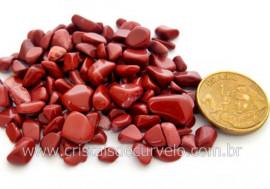 Jaspe Vermelho Pedra de Garimpo Rolado Miudo Pacotinho 20 Gr Mineral Natural PJ9629