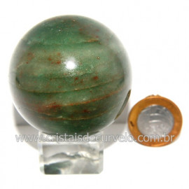 Esfera Quartzo Verde Pedra Natural Bola Lapidado Cod 118805