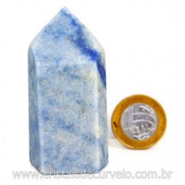 Ponta Quartzo Azul Pedra Natural Gerador Sextavado Cod 217772