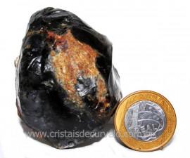 Ágata Negra Pedra Bruta Natural Para Colecionador Cod 104274