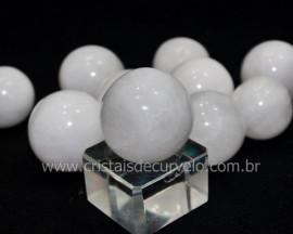 01 Mini Bola Pedra Quartzo Leitoso Esfera Pequena Em Pedra Natural Reff 45.4