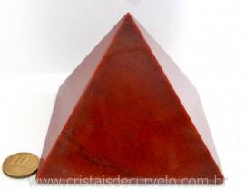 Piramide Quartzo Vermelho Baseada Queops Pedra Comum Lapidado Manual Cod 651.7