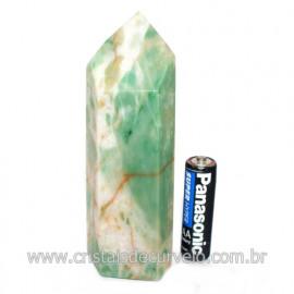 Ponta Jade Verde Lapidado Pedra Natural de Garimpo Cod 121200
