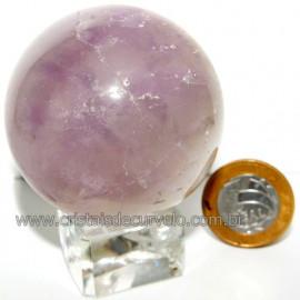 Esfera Ametista Pedra Comum Qualidade Natural Cod 113333