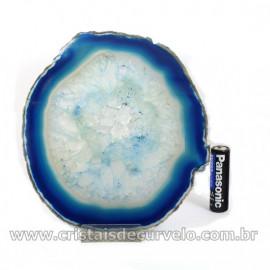 Chapa de Agata  Azul  Porta Frios Bandeja Pedra Natural 127039