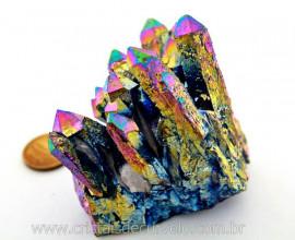 Drusa Crystal Aura Arco-Iris ou Titaniun Bruto Cod AI3768