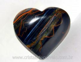 Coração Olho de Falcão Pedra Extra Natural Origem Africa Natural Cod 148.8