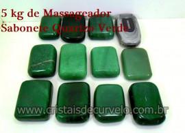 5 kg Massageador Sabonete Cristal Quartzo Verde Massagem Terapeutica Com Pedras