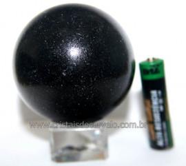 Esfera Pedra Quartzo Preto ou Quartzito Natural Cod BP2999