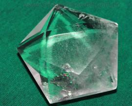 Pentagrama Simbolo Wicca Pedra Quartzo Cristal Estrela 5 pontas de 50  a 100 Gr