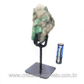 Esmeralda Canudo Pedra Natural com Suporte De Ferro Cod 121530