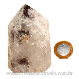 Ponta Cristal Pedra Com Inclusao Para Colecionar Cod 117679